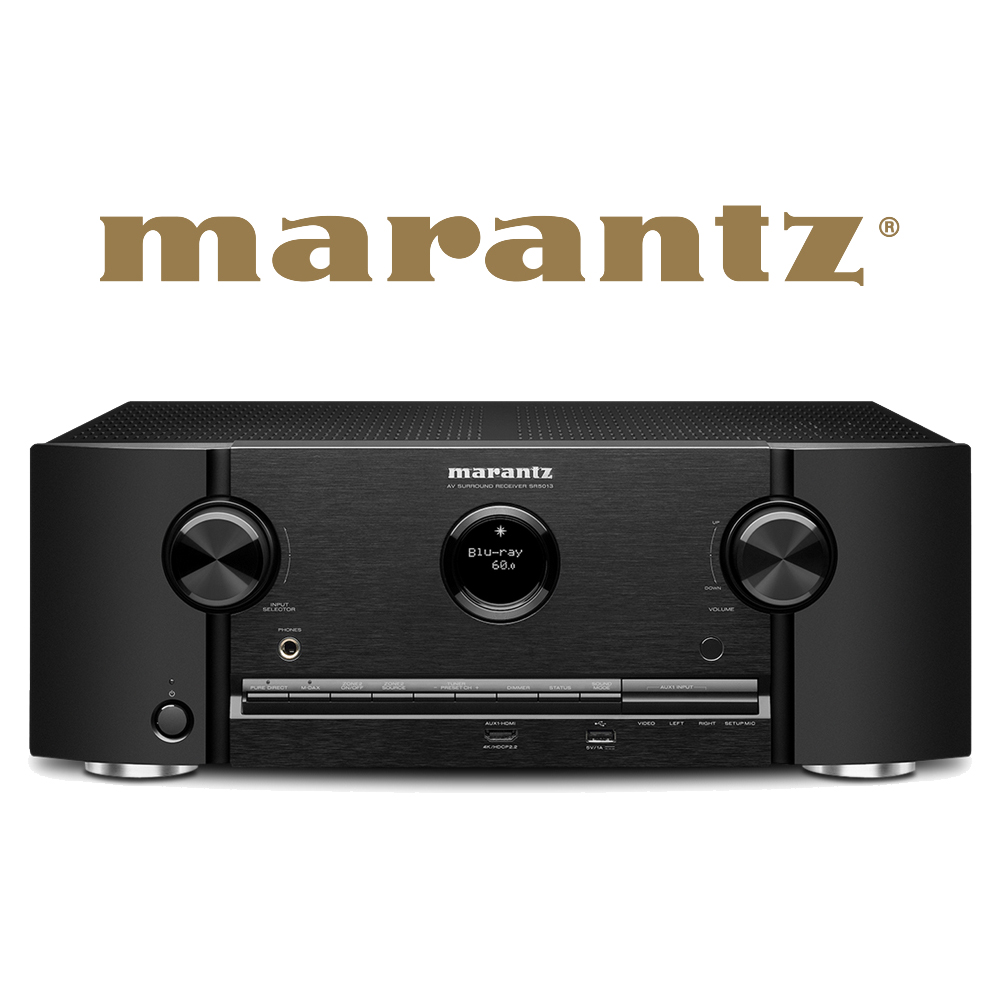 Marantz 7.2 Channel Full 4K Ultra HD Network AV Surround Receiver (Black) - SR5013N1B