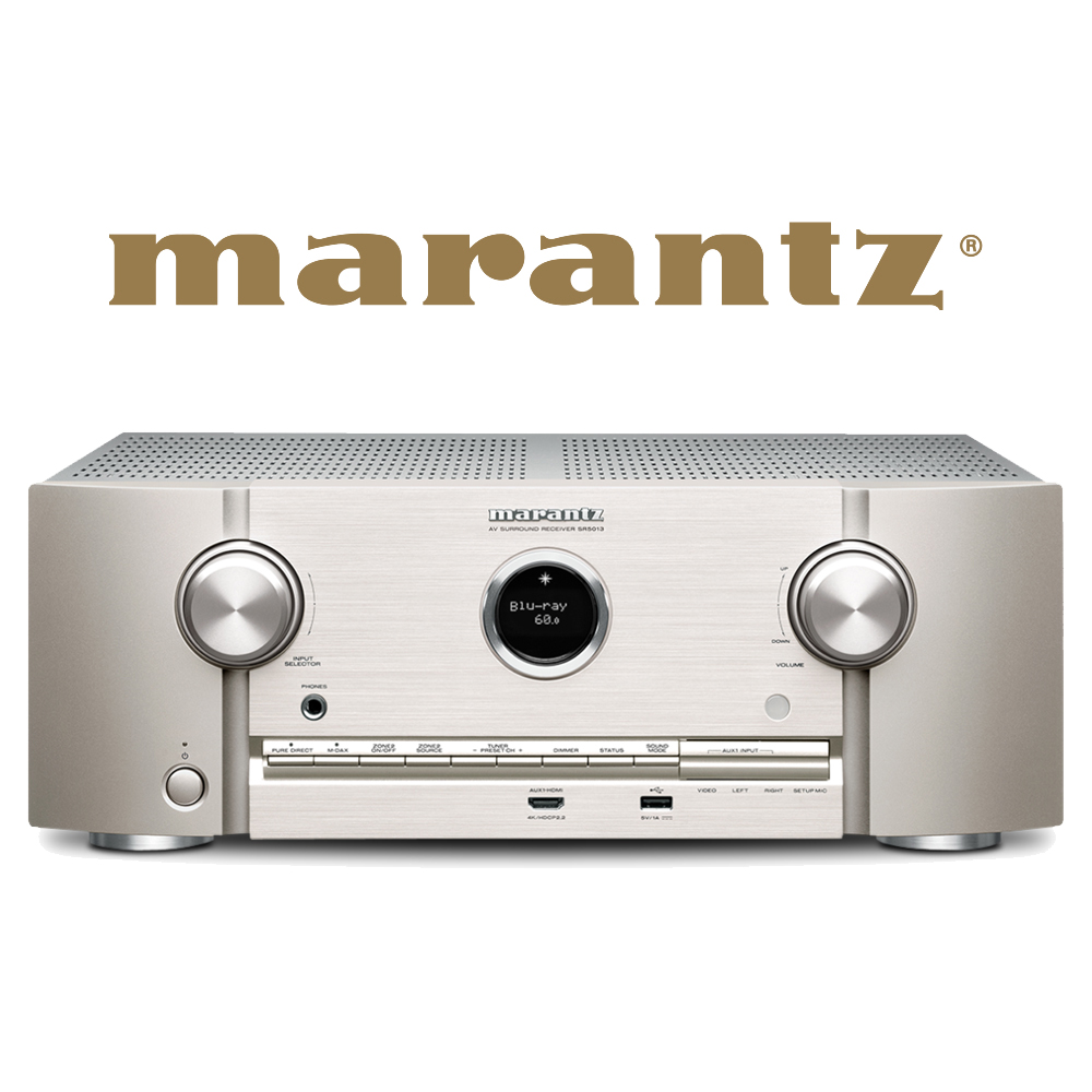 Marantz 7.2 Channel Full 4K Ultra HD Network AV Surround Receiver (SilverGold) – SR5013N1SG