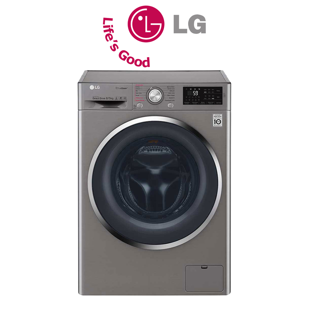 LG 8kg Wash / 5kg Dry Eco Hybrid Washer Dryer Combo - FH4U2TGP2S