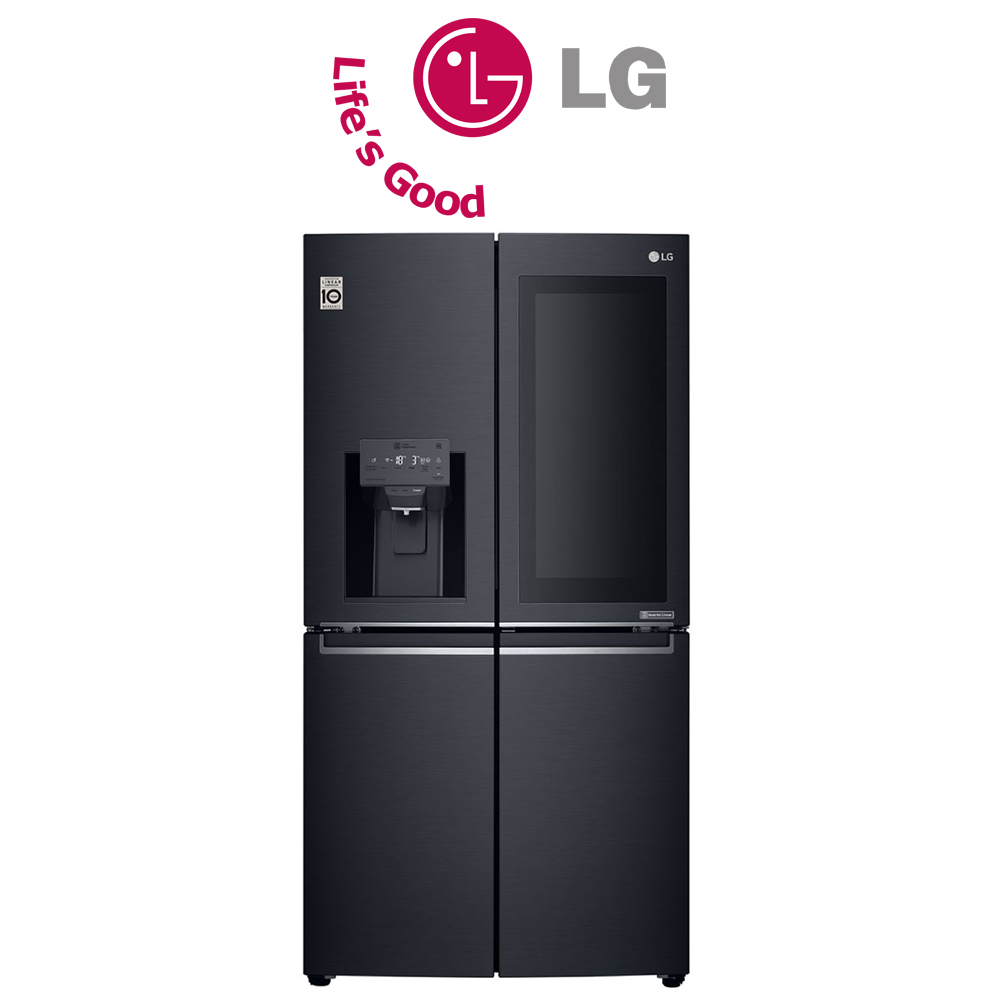 LG 889L Matte Black Multi Door InstaView Refrigerator, Door-in-Door™ - GR-X31FTKHL