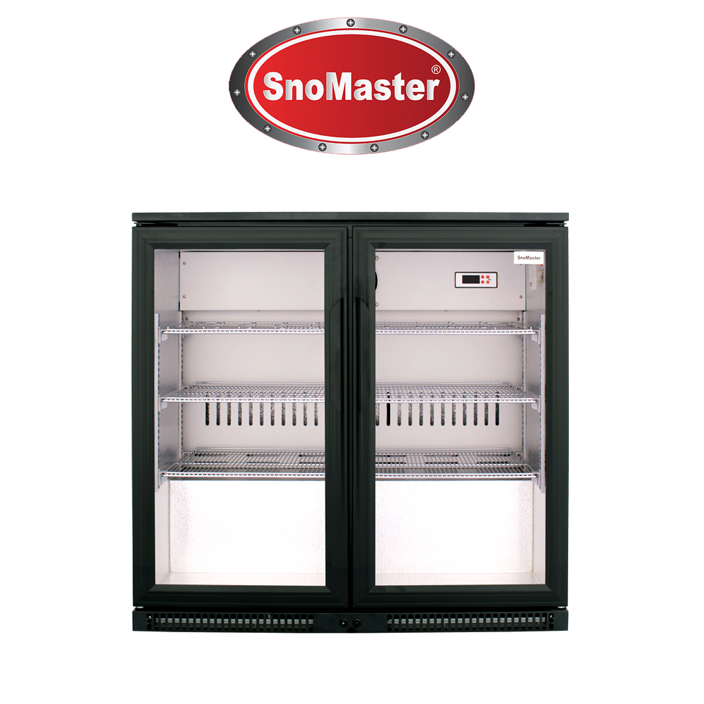 SnoMaster 200L Under Counter Beverage Cooler (Black) - SD220