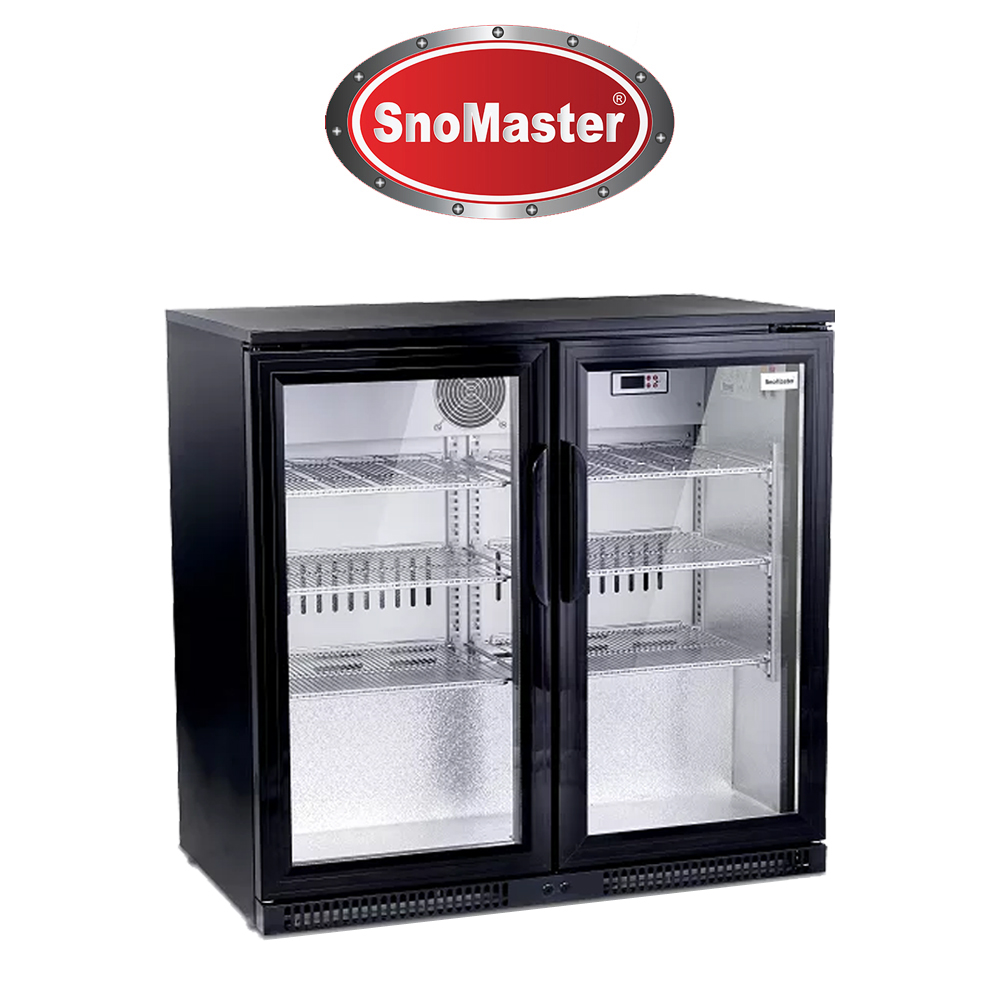 SnoMaster Two Door Alfresco Beverage Cooler - SD220BLACK