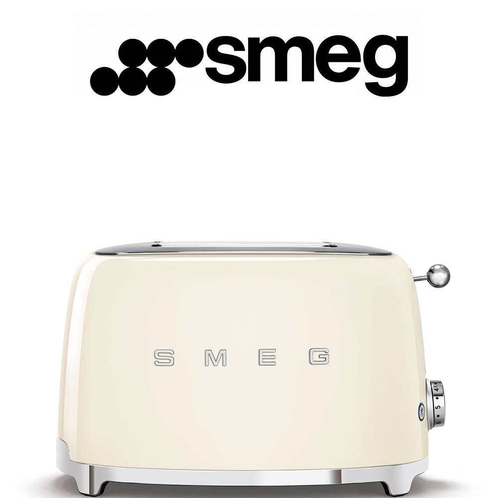Smeg 50's Style Vintage Cream Retro 2 Slice Toaster - TSF01CRSA