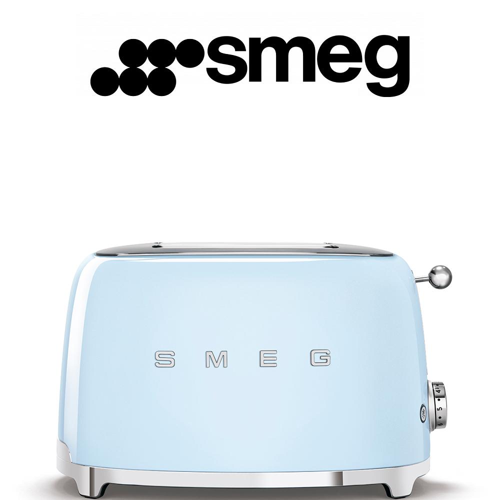 Smeg 50's Style Pastel Blue Retro 2 Slice Toaster - TSF01PBSA