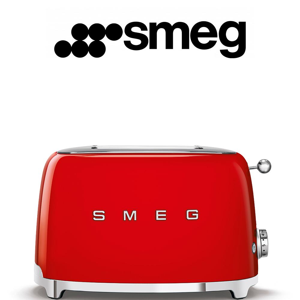 Smeg 50's Style Red Retro 2 Slice Toaster - TSF01RDEU