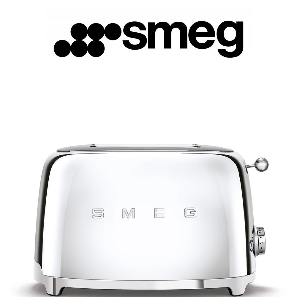 Smeg 50's Style Chrome Retro 2 Slice Toaster - TSF01SSSA