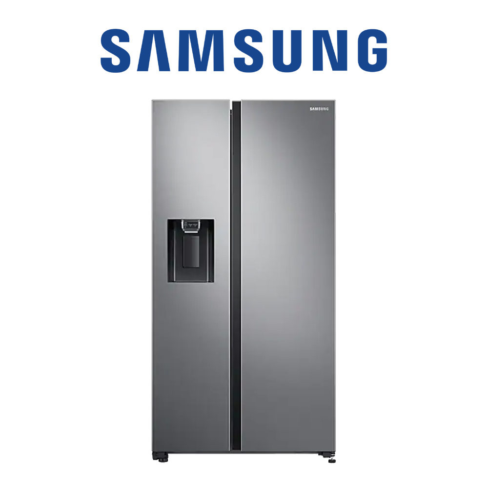 Samsung 2 Door Plumbed water & ice dispenser, 617 L, Gentle Silver - RS65R5411M9