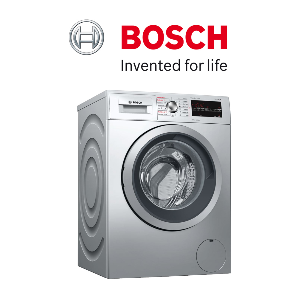 Bosch Serie | 6 Washer Dryer 7/4 kg 1500 rpm - WVG3047SGB