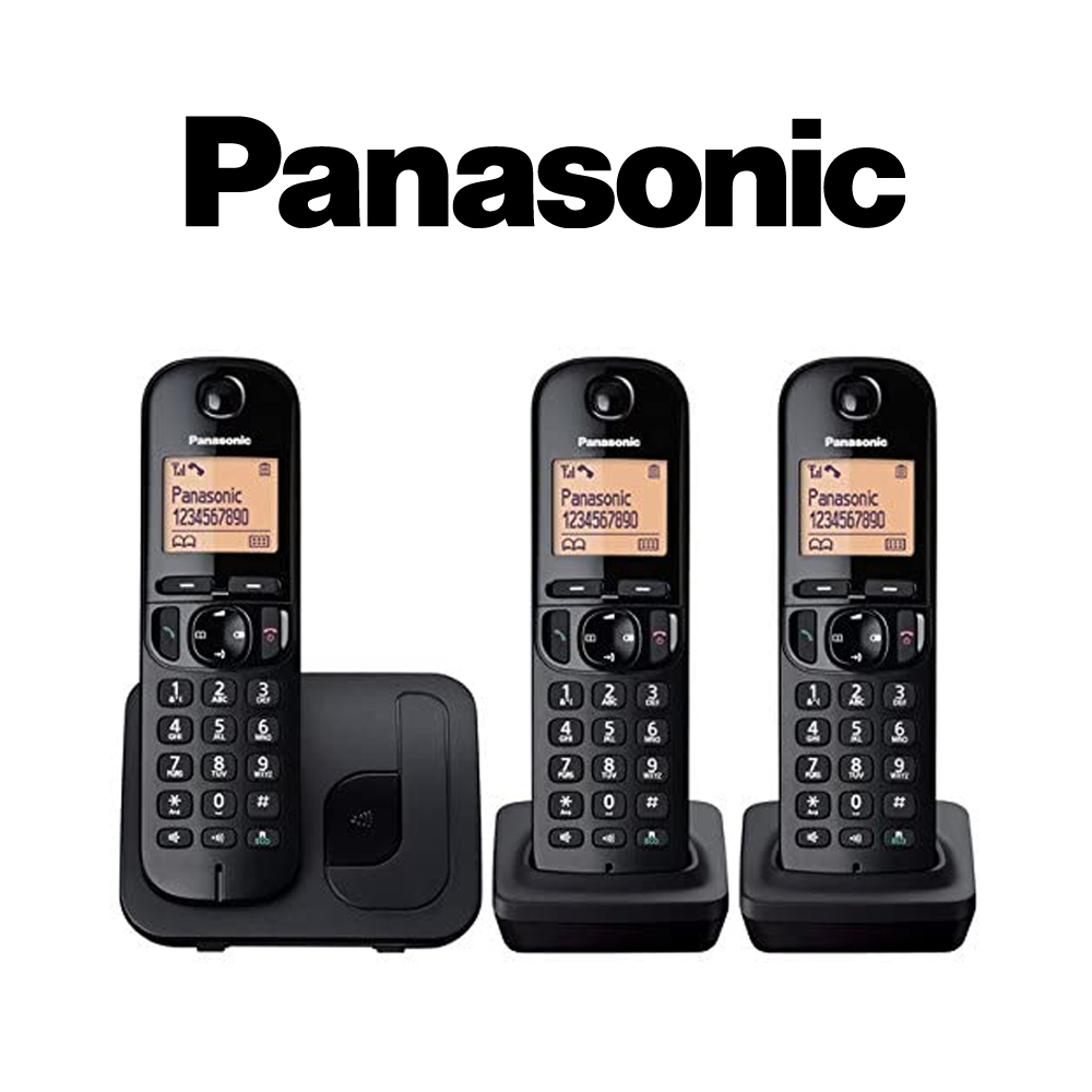 Panasonic KX-TGC213EB Trio DECT Phone - Black