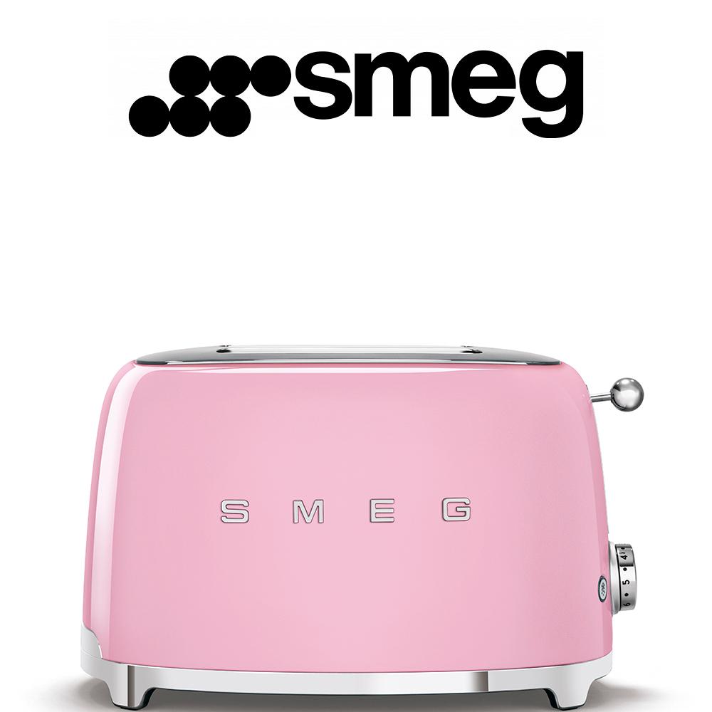 Smeg 50's Style Pastel Pink Retro 2 Slice Toaster - TSF01PKEU
