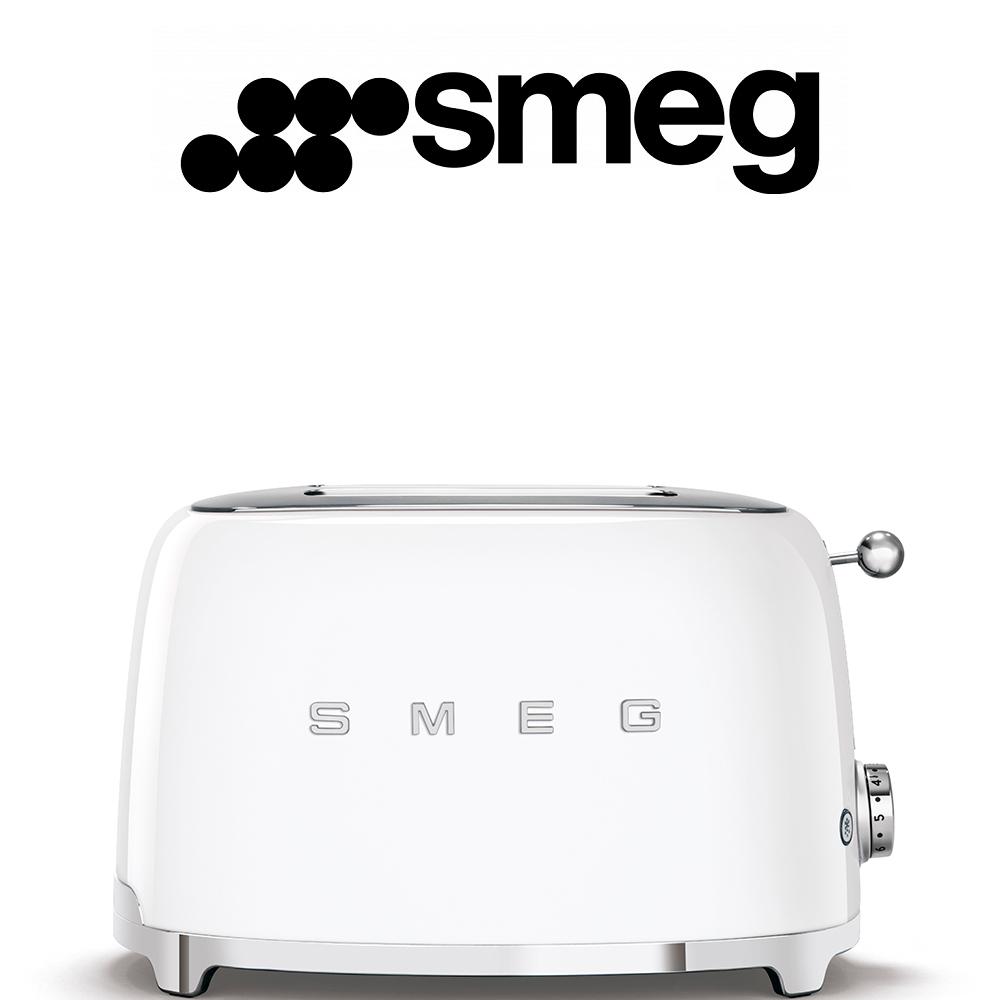 Smeg 50's Style White Retro 2 Slice Toaster - TSF01WH