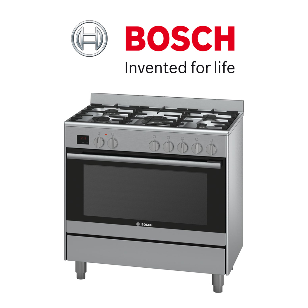 Bosch  Serie   6 Dual fuel range cooker - HSB737357Z
