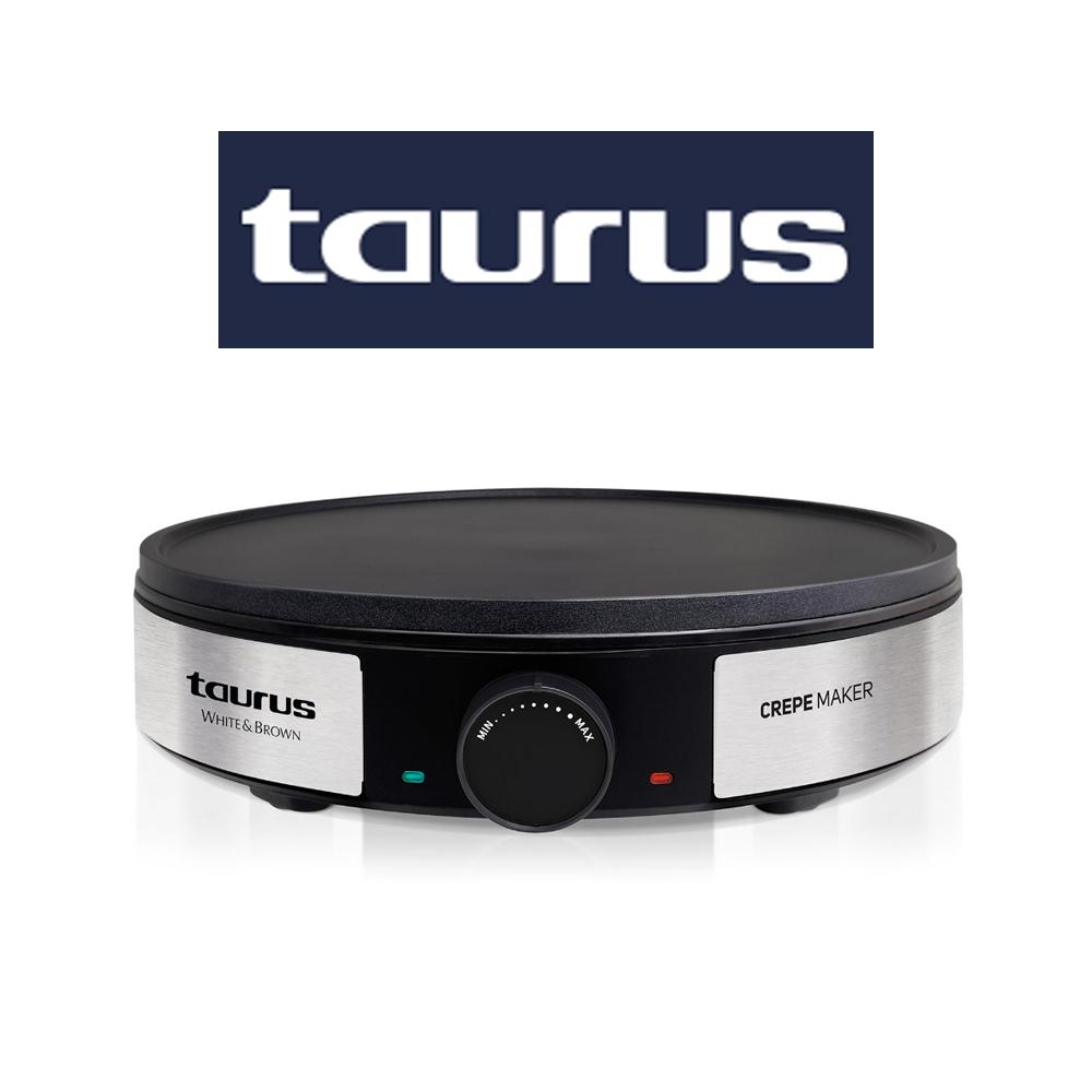 Taurus Crepe Maker Variable Temperature Control Non-Stick Black 30cm 1200W - 968382