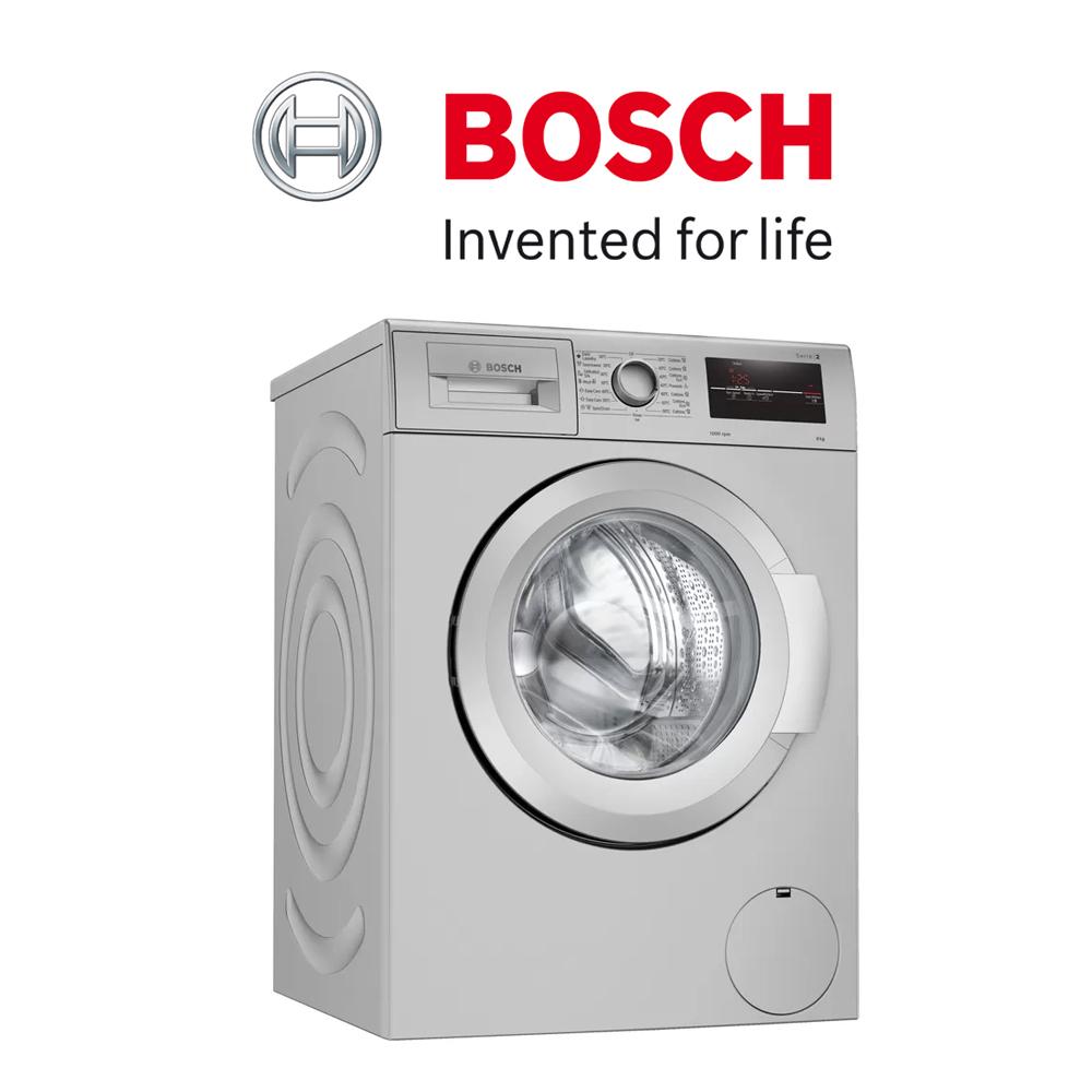Bosch Serie   2 Frontloader Washing Machine 8 kg 1000 rpm, silver inox - WAJ2018SZA